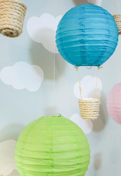 Παιδική Διακόσμηση με Αερόστατα | Φτιάξτο μόνος σου - Κατασκευές DIY - Do it yourself