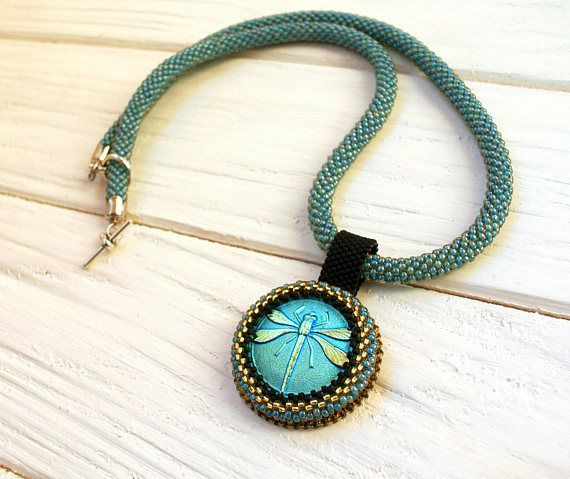 Unique necklace with a pendant Christmas gift-for-wife gift for mom from daughter turquoise necklace Holiday boho necklace fashion pendant This necklace is an excellent gift for mom, wife, fashionable grandmother, sister, and girlfriend. It is made of quality beads, - each bead is hand