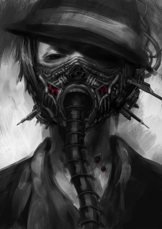 18 best images about masks on pinterest cyberpunk gas - Anime girl with gas mask ...