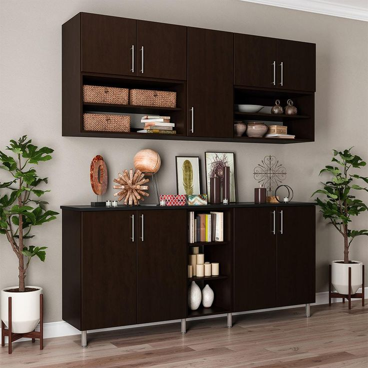Horizon 75 in. W x 84 in. H Mocha (Brown) 8-Cube Organizer Kit