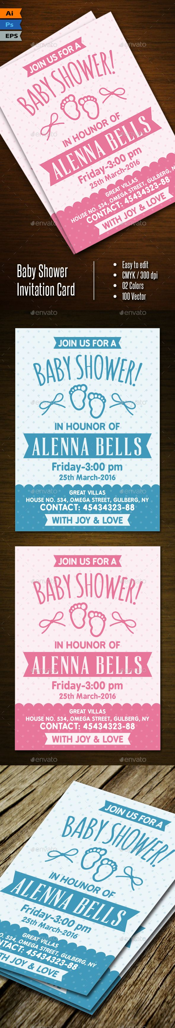 Buy Baby Shower Invitation by wakgraphic on