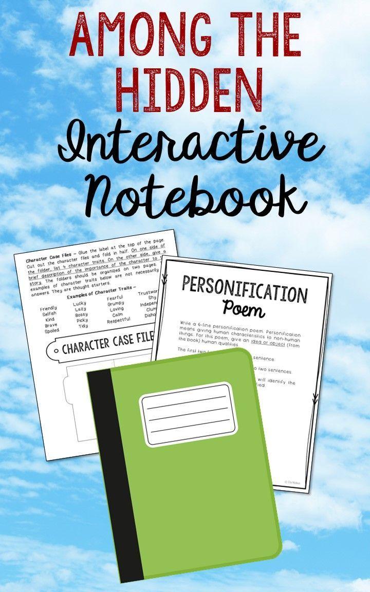 Among The Hidden Interactive Notebook Novel Unit Study Activities, Book  Report