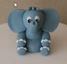 Cute Elephant Topper for Baby Birthday, Christening or Dedications. Available at heavenlybakesaltona@gmail.com
