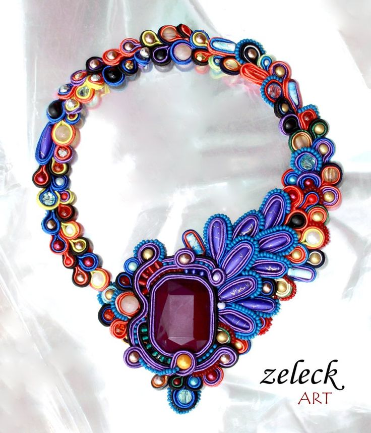 soutache inspiration: necklace by zeleck on deviantART