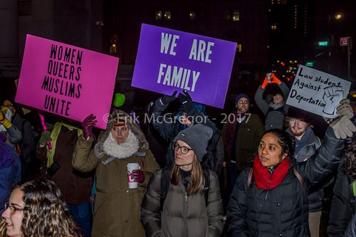 https://flic.kr/p/RMJp6W | EM-170210-ICEfreeNY-023 | In response to the U.S. Department of Homeland Security Immigration and Customs Enforcement (ICE) raids and deportations happening across the country, about a thousand people among immigrant communities from across New York City, Resist Here, New York Communities for Change, Make the Road New York and concerned citizens held a rally on February 10, 2017 in front of ICE offices at 26 Federal Plaza, NYC followed by a march to Federal Court…