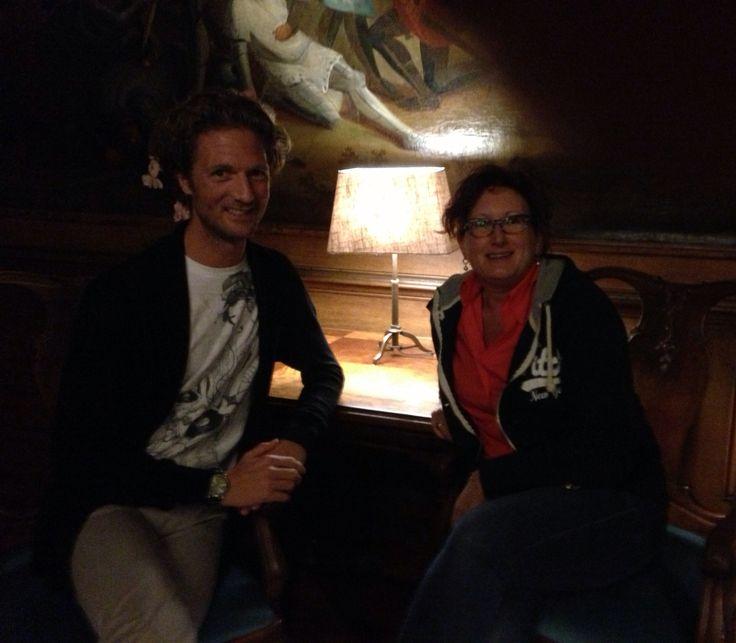 Samen met Emile in kasteel Slangenburg. Sept 2013