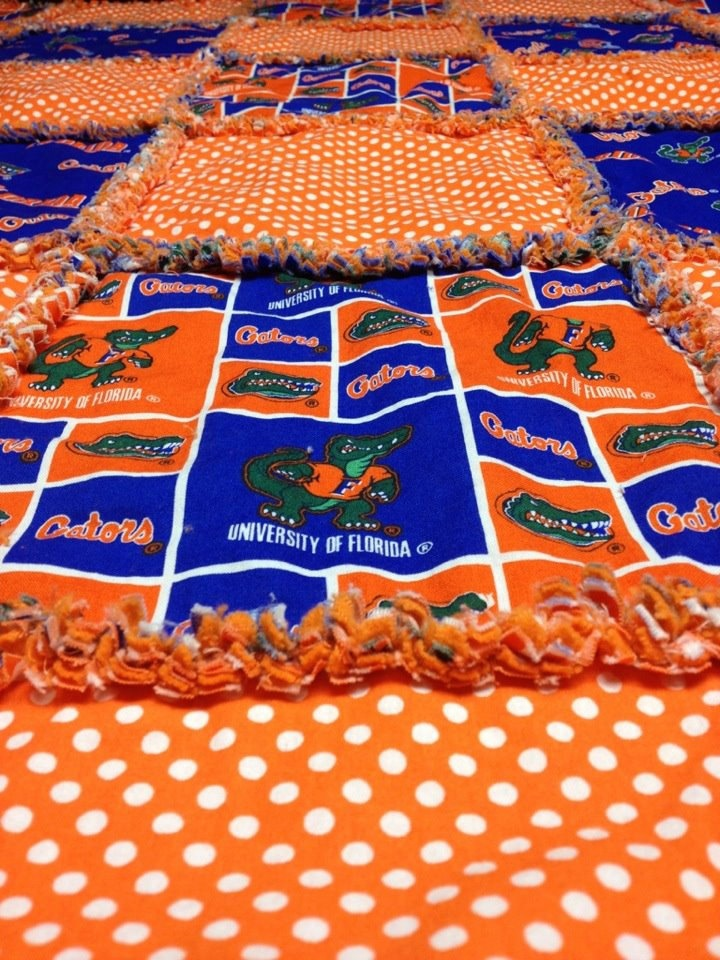 Florida Gators Rag Quilt. $89.00, via Etsy.
