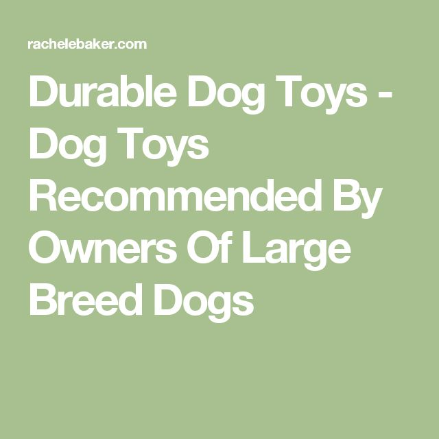 Durable Dog Toys - Dog Toys Recommended By Owners Of Large Breed Dogs