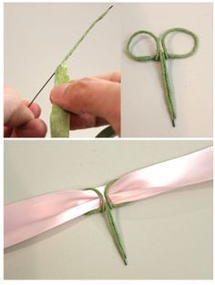 How to wire the back of a wrist corsage so you can attach any ribbon you'd like                                                                                                                                                                                 More