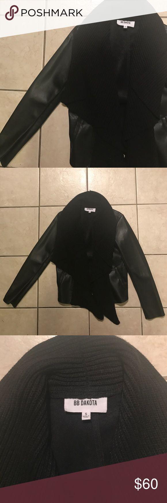 BB Dakota jacket Black BB Dakota jacket. Attached sweater collar/scarf detail. Inside is very soft Faux suede. BB Dakota Jackets & Coats