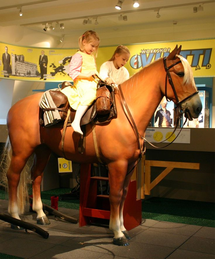 In Vintti you can harness a horse for riding or pulling a cart. The interactive exhibition Vintti Workshop on museum's 3rd floor is open Tue-Sun 12 noon - 4 pm. Photo: National Board of Antiquities / Hanna Forssell. #Finland #Helsinki #Museum #Vintti #Workshop #Family #Kids www.visithelsinki.fi
