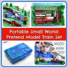Portable Small World: Pretend Model Train Set - Play Trains!
