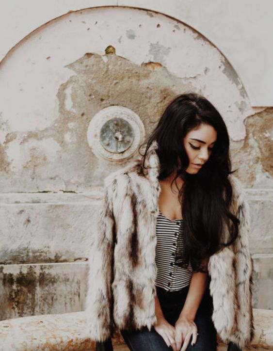 Vanessa Hudgens poses for Find Your California in Lisbon: