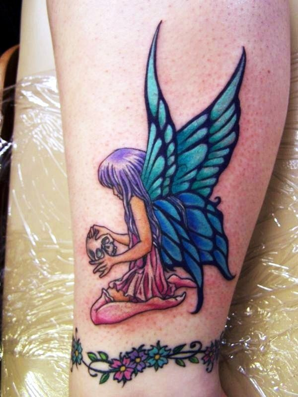 Adorable Fairy Tattoo Designs (19)