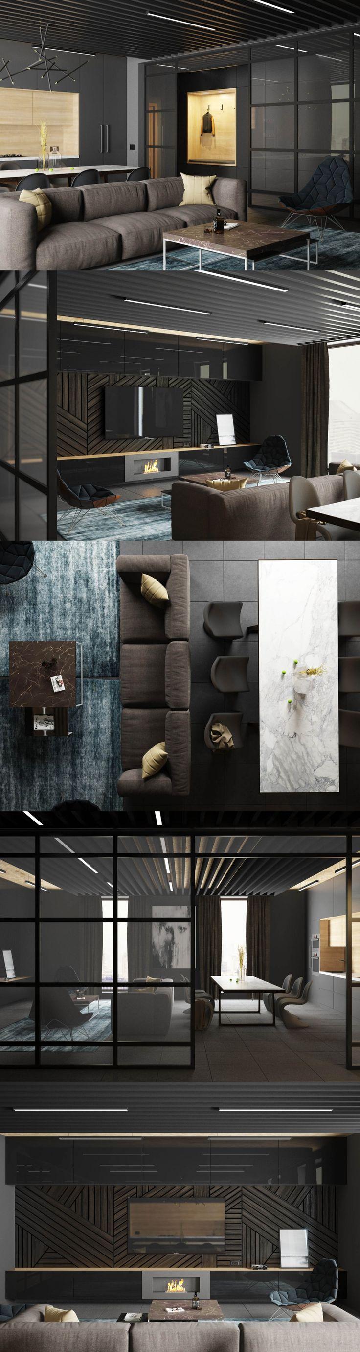 Man's apartments - Галерея 3ddd.ru #contemporarylivingroomdesigns