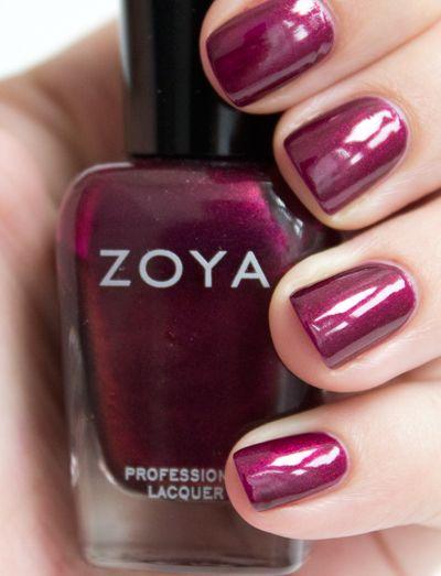 Love this Zoya polish - Rihana, not too red, not too purple - just beautiful!