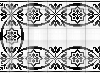 Rectangle 06   Free chart for cross-stitch, filet crochet   Chart for pattern - Gráfico