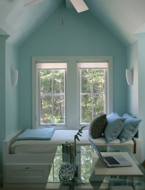 nookGuest Room, Beds, Windows Seats, Colors, Reading Nooks, Attic Room, House, Bedrooms, Small Spaces