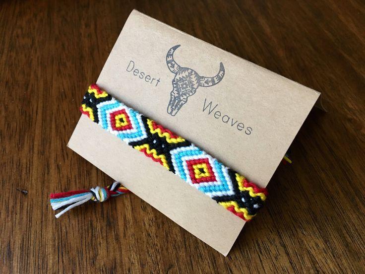 Southwestern bracelet, woven friendship bracelet, tribal anklet, boho desert festival bracelet, macrame bracelet, braided cotton anklet