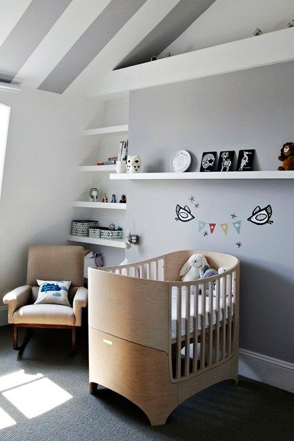 160 best images about striped nursery on pinterest budget nursery baby rooms and striped ceiling - Baby nursery ideas for small spaces style ...