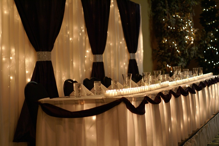 Dark Purple Wedding Backdrop And Head Table Done By
