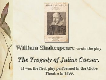 an introduction to the history of the assassination of julius caesar Also explains the historical and literary context that influenced julius caesar   at the time of shakespeare's death, such luminaries as ben jonson hailed him.