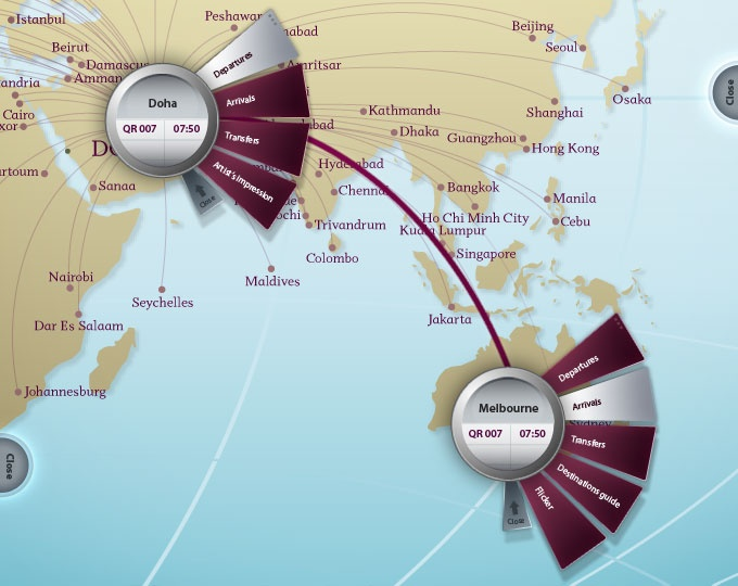 Qatar Airlines: Microsoft surface 1.0 experience