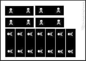 kleine Piratenflaggen