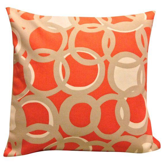 Scion Zsa Zsa Chilli Orange Cushion Cover by PrettyCushionsUK