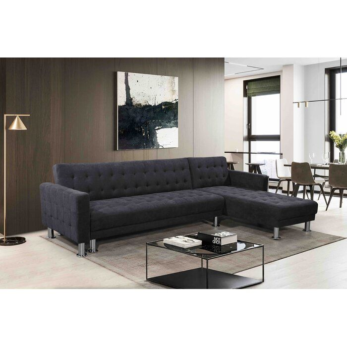 Lacaille 103 5 Reversible Sleeper Sectional Sectional Sleeper Sofa Modular Sectional Sofa Luxe Living Room
