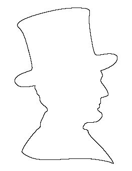 free printable silhouettes of abraham lincolln | Abraham Lincoln Pattern