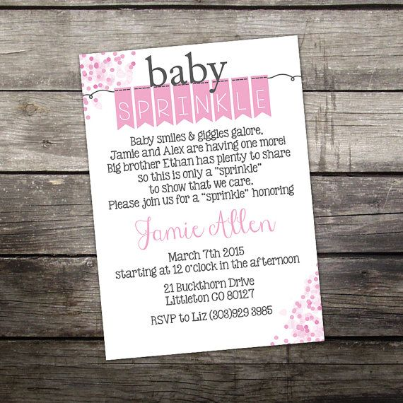 WE PRINT Baby Sprinkle Invitation for a Girl - Cute Baby Sprinkle Invitation - Baby Smiles & Giggles Galore -  Baby-113