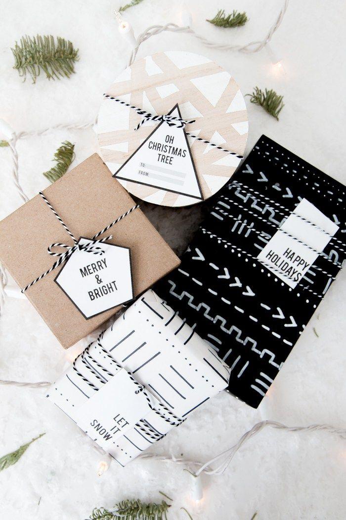 Free Printable Minimalist Gift Tags