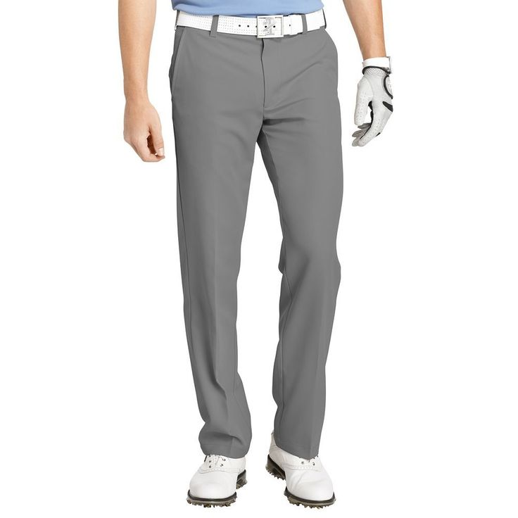Men's IZOD Slim-Fit Performance Golf Pants, Size: 38X30, Dark Grey