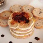 Millefoglie di foie gras, mela, formaggio di capra