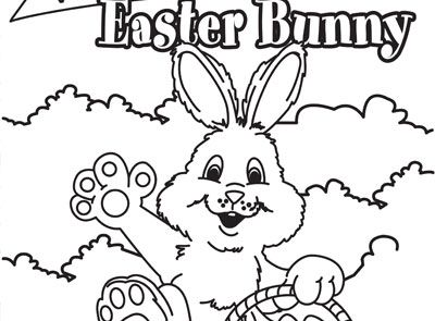 Welcome Easter Colouring Page