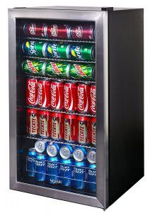 Best Mini Fridge reviews no. 5. NewAir AB-1200 126-Can Beverage Cooler. We referred earlier to people who use their mini fridge exclusively to keep beverages cold. This model is designed with that purpose in mind.