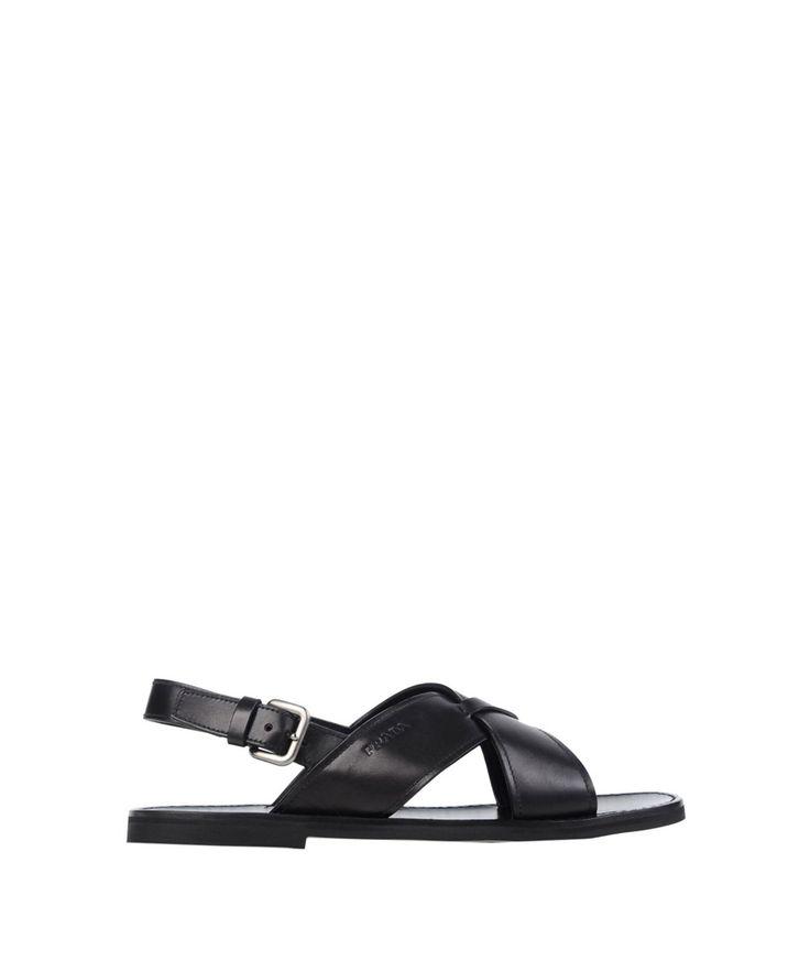 PRADA Prada Men'S  Black Leather Sandals'. #prada #shoes #sandals
