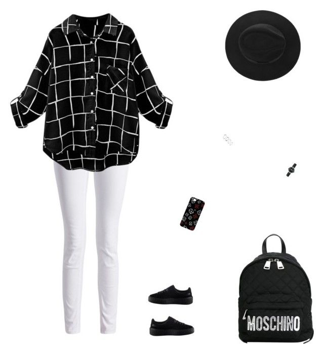 """""""🔲🔲🔲"""" by celmad on Polyvore featuring Barbour International, Puma, Moschino and Movado"""