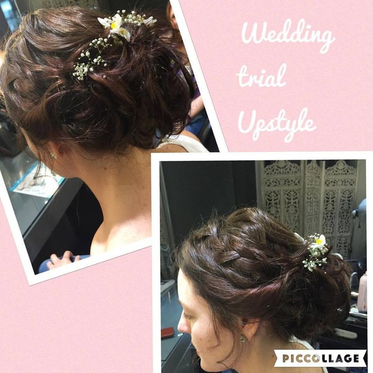 Beautiful Upstyle by Midori for a wedding trial. Wedding packages available for your special day