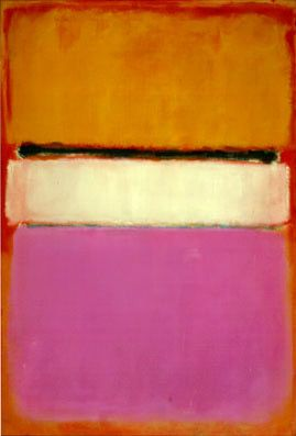 """Mark Rothko: """"White Center (Yellow, Pink and Lavender on Rose)"""", 1950. ( 205.8 cm × 141 cm) National Gallery of Art"""