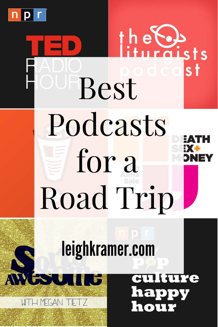 """Okay, okay, these aren't road trip songs, but they will keep you entertained!!! """"Best Podcasts For a Road Trip"""""""
