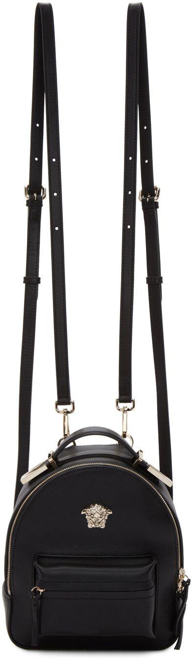 Versace - Black Mini Medusa Palazzo Backpack