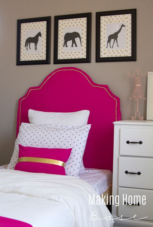 BUDGET friendly Little Girl's room complete with tons of DIYs, painted dressers, and more!