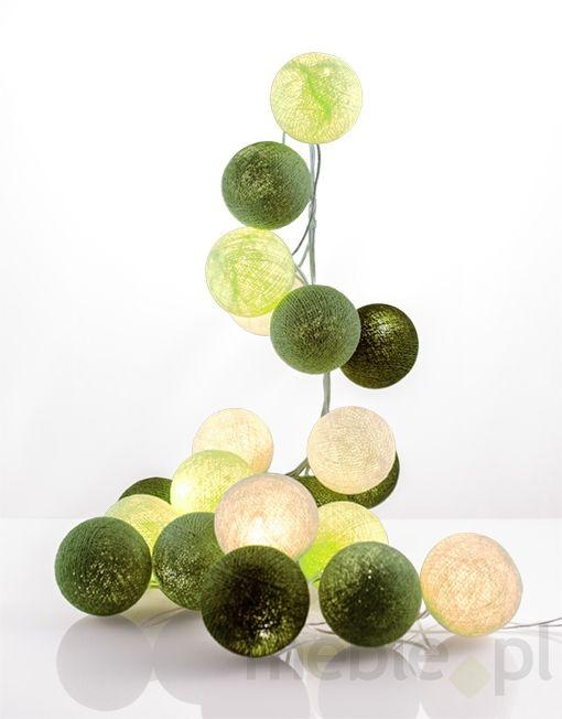 Zestaw Cotton balls Wiosenna zieleń 50 kul, Good Moods* - Oświetlenie