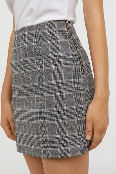 028756f393 Checked Skirt in 2019 | Skirts | Skirts, Checked skirt outfit ...