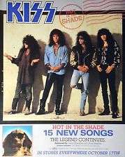 "KISS - HOT IN THE SHADE, US 13.5"" x 11"" ADVERT PRESS AD PAPER 1989"