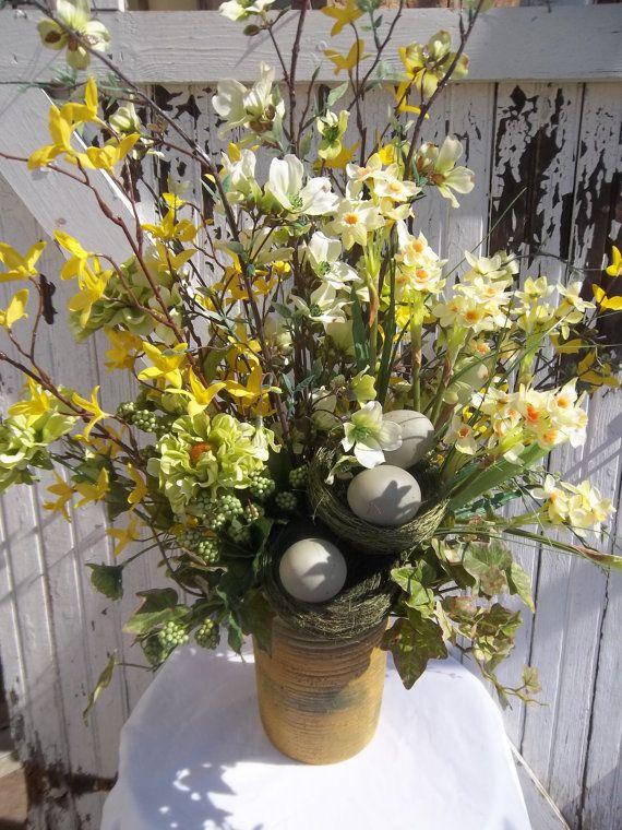 65 best flower arrangements images on pinterest flower flower centerpiece tall spring flower arrangement for table mightylinksfo