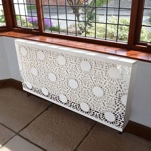 Modern lace radiator covers, contemporary design. Made to measure, bespoke, high quality radiator covers. Custom made in the UK