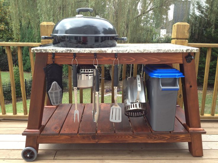 Weber kettle grill table. This one is my favorite.